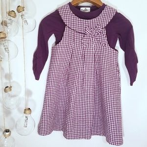 Rare Editions 2 Piece Purple Houndstooth Dress 6X